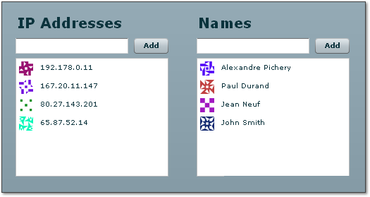 Flex Identicons Example