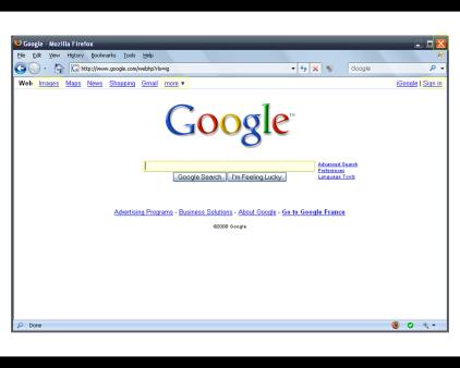 Maquette Interactive Google